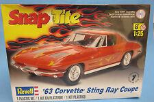 Revell 1/25 SnapTite '63 Corvette Stingray Coupe Plastic Model Kit 851968