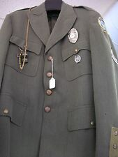 1940s Jacket with a Badge #431, Whistle, 1980's patch, Firing Range Badge