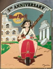 Hard Rock Cafe ROME 2003 5th Anniversary PIN Scooter Girl w/ Guitar - HRC #20151