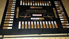 "VINTAGE""AUTOBRIDGE PLAYING BOARD 1946 w ORIGINAL GAME PAPERS INSIDE LOOK!!!!!"