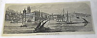 1878 magazine engraving ~ ASUNCION ~ capital of The Republic of Paraguay