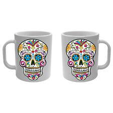 Mug blanc Tasse Tête de Mort mexicaine Dia de la muerte Mexique - Skull