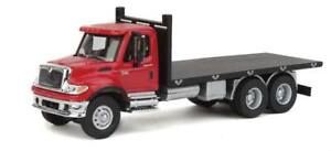 Walthers-International(R) 7600 3-Axle Flatbed Truck - Assembled -- Red Cab, Blac
