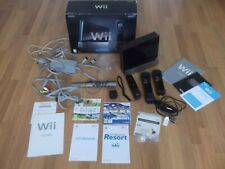 BOXED Black Nintendo wii console motion plus  & 2 Games wii  sports + wii resort