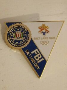2002 SALT LAKE CITY OLYMPICS Olympic FBI PIN  Triangle
