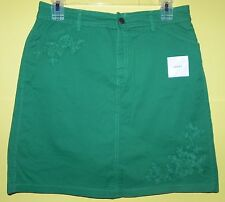 Croft & Barrow Green Classic Fit Stretch Skort Skirt With Shorts Above Knee