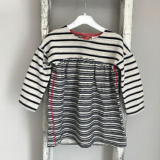 Baby Girl Next Dress Size 9-12 Months White Black Stripe Knit Outfit