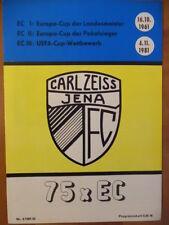 Carl Zeiss Jena - 75x Europacup 1961 - 1981 Fußballprogramm 80