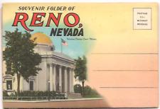 Nevada Postcard Folder.'Souvenir of Reno'.w/18 views. Vintage.Unposted