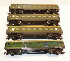Märklin H0 3x 346/1 Personenwagen 1. Kl grün und 346/4 Gepäckwagen grün