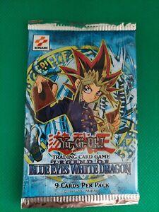Yugioh! (x1) 2002 Legend of Blue Eyes Booster Pack Sealed OG Print Konami Logo