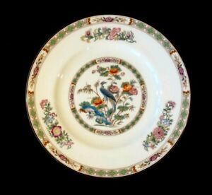Beautiful Wedgwood Kutani Crane Brown Trim Salad Plate