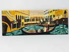 """Venice Italy 3D Hand Painted Art Tile Glazed Ceramic Wall Hanging 15.5' x 6"""""""