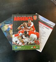 Arsenal v Everton, Programme & Team Sheet, 23rd February 2020 EPL, MINT