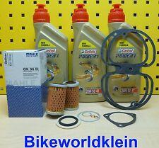 BMW R45 R50 R60 R65 R75 R80 R100 Mahle Ölfilter + Öl Castrol + Ventildeckeldicht