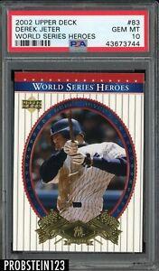 2002 Upper Deck World Series Heroes Derek Jeter Yankees HOF PSA 10 GEM MINT