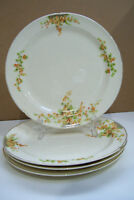 """Set Of Four Taylor Smith Taylor TST ACACIA PATTERN 8 1/2"""" Breafd & Butter Plates"""