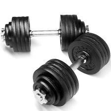 YES4ALL DUMBBELL SET 105 LBS ADJUSTABLE WEIGHT CAST IRON DUMBBELLS FITNESS GYM