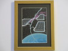 LARRY ORTIZ ILLUSTRATION PAINTING SPACE VINTAGE COMPUTER TECHNOLOGY DATA TRAVEL