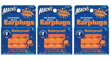 Macks Mack's #10 Pillow Soft Mouldable Silicon Earplugs Kids 18prs 3 Packs Of 6