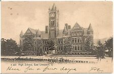 High School in East Liverpool OH Postcard 1907 Rotograph
