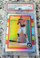 PATRICK MAHOMES II 2017 Donruss REFRACTOR #1 Draft Pick Rookie Card RC PSA 9 $$$
