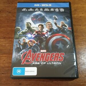 Avengers AGE OF ULTRON DVD Marvel R4 LIKE NEW FREE POST No digital