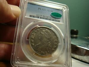 1824 Capped Bust Half _ PCGS AU-50 / CAC _ No Problems Here !!!