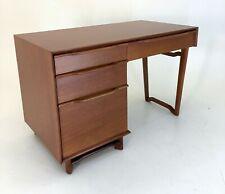 Honduran Mahogany Desk by Hickory Manufacturing vintage 1950s mcm retro