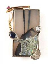 Handgefertigte Echtschmuck-Broschen & -Anstecknadeln für Damen mit Perle