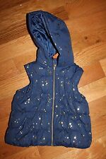 NWT Gymboree Flight of Fancy 7-8 Medium Navy Blue Gold Star Hooded Puffer Vest