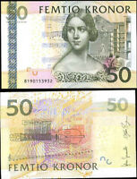 SWEDEN 50 KRONOR 2008 P 64 NEW SIGN JOHAN & STEFAN UNC