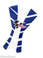 MOTO GP 3 piezas PROTECTORES DE DEPÓSITO - azul/blanco