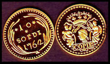 ★★ CORSE : RARE COPIE PLAQUEE OR DU 10 SOLDI 1762 ★★ NEUVE FDC