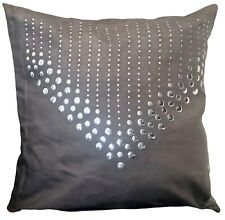 Cushions faux Suede Cushions or Covers Silver V studs sofa home decor square