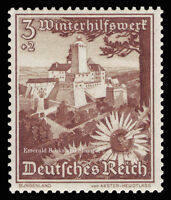 EBS Germany 1938 - Burg Forchtenstein and Silver Thistle - Michel 675 MNH**