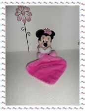 P - Doudou Peluche Luminescent  Minnie Rose Fuchsia Mouchoir Disney Nicotoy