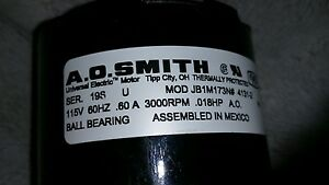 115 v electric motor A.O. smith model JB1M173N # 4131-2 special price for dealer