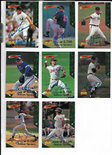 More details for baseball 1995 signature rookies - lot of 8 different autograph cards #/5750