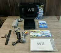 Nintendo Wii Black Console Wii Sports + Wii Resort in Box. *NO WII MOTE*