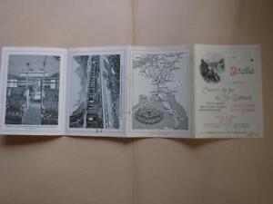 1903.publicité programme chemin de fer du Saint Gothard.