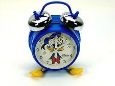 Rare Disney Parks Donald Duck Alarm Clock Bell Blue Yellow Feet Vintage