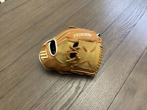 "New Marucci Cypress Series 11.25"" One Piece  Web Baseball Glove Brown Camel"