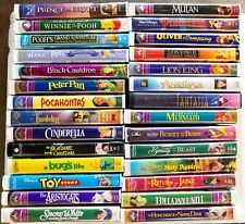 Walt Disney VHS Tapes & Other Animation Classics Movies Collection ~ You Pick