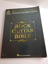 Rock Guitar Bible Tab Sheet Music Chords Lyrics 33 Songs Hal Leonard Book