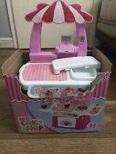 Cute Kids Simulation Mini Cake Shop Dresser Cart Pretend Toy Set Role play Gift