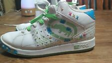 RED By MARC ECKO High Top Stud Sneakers Sz 8 Women's Leather Hip Hop Shoes LGBTQ