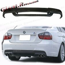 For 06-11 E90 E91 BMW Sedan Wagon M Sport Use 3D Rear Bumper Carbon Diffuser