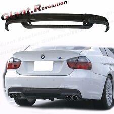 For 06-11 E90 E91 BMW Sedan Wagon M Sport Use 3D Rear Bumper Carbon Diffuser
