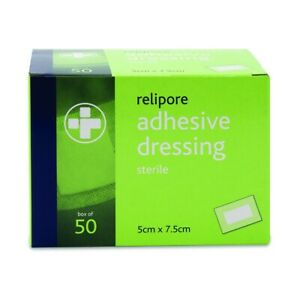 RELIPORE Sterile Adhesive Wound Dressing Pad MULTIPLE SIZES Pack Of 10 - 100